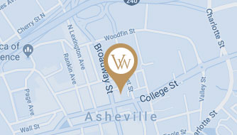 Google Map View of The Van Winkle Law Firm in Asheville, NC