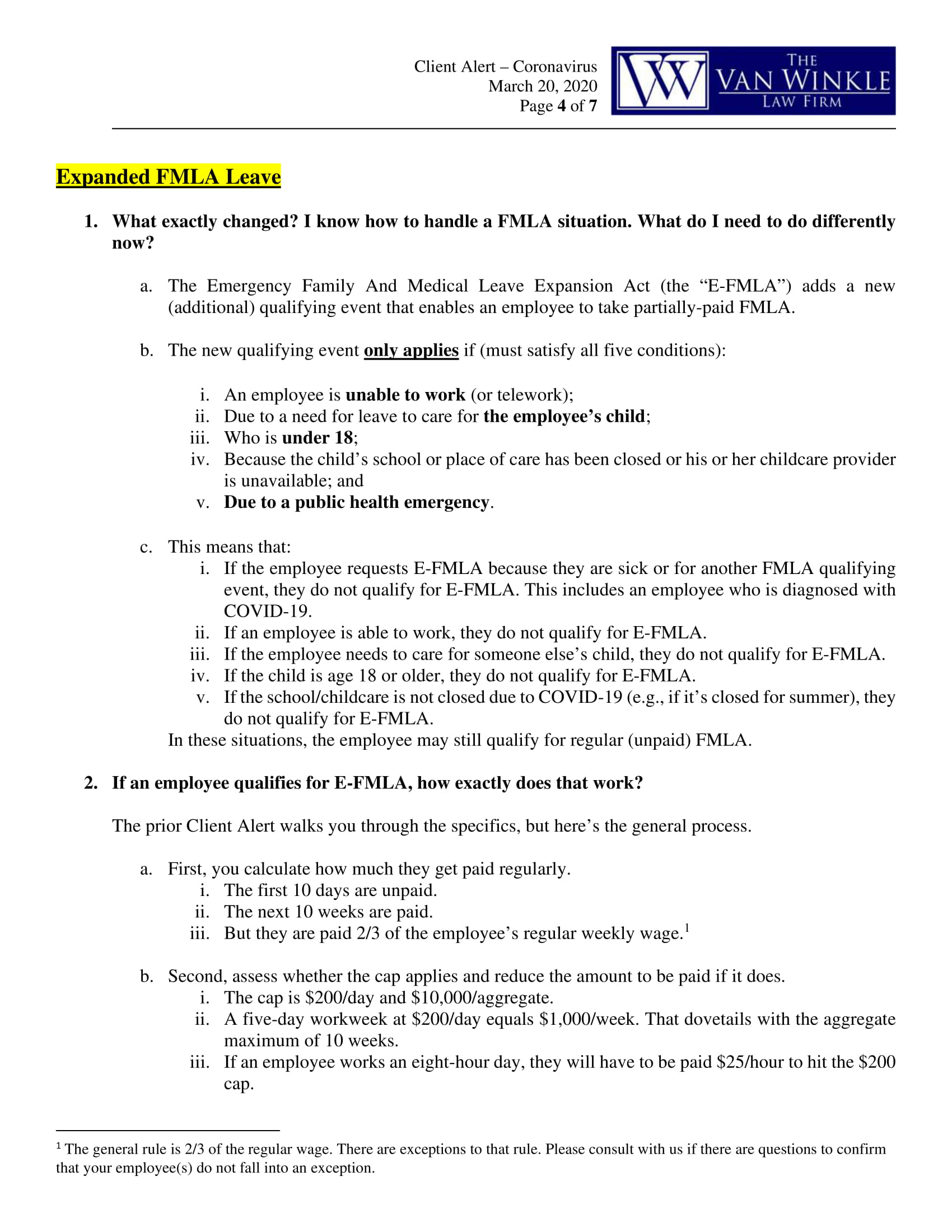 Image 4 for The Families First Coronavirus Response Act Supplement