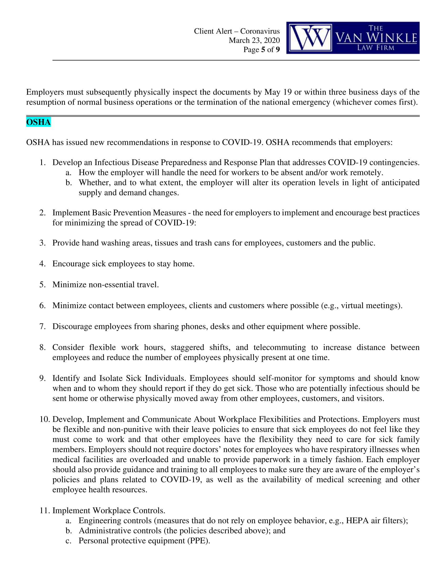 North Carolina's Executive Order Page 5