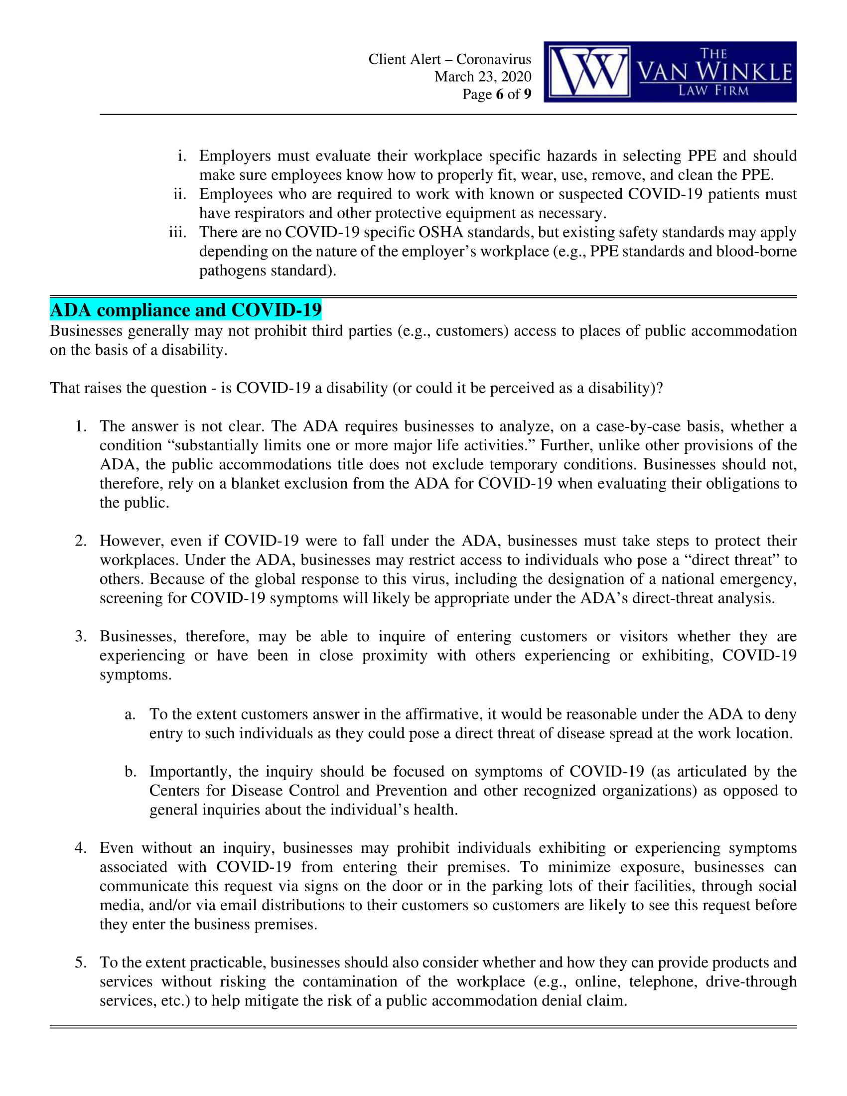 North Carolina's Executive Order Page 6