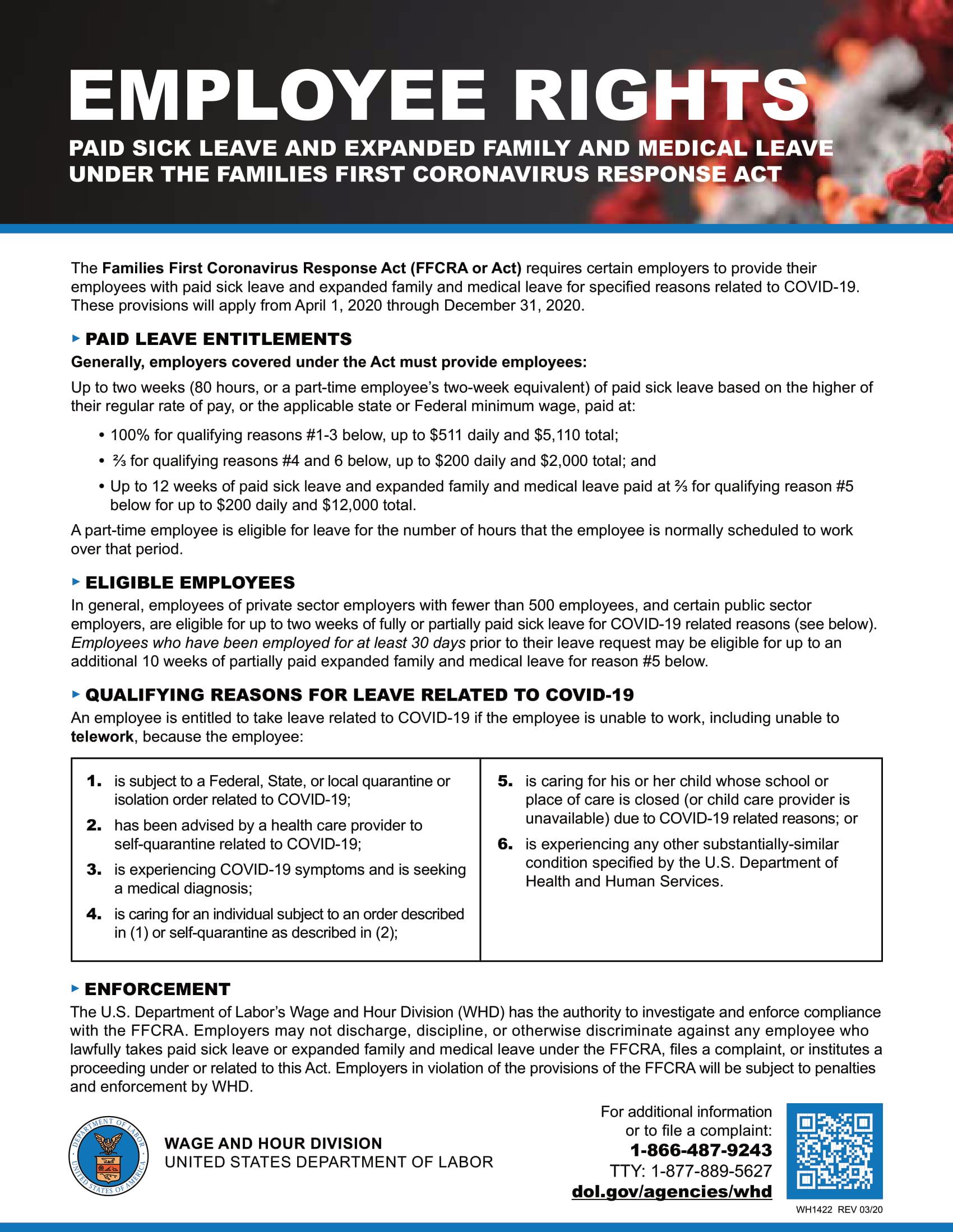 COVID 19 Update FFCRA Supplemental Guidance amp Poster