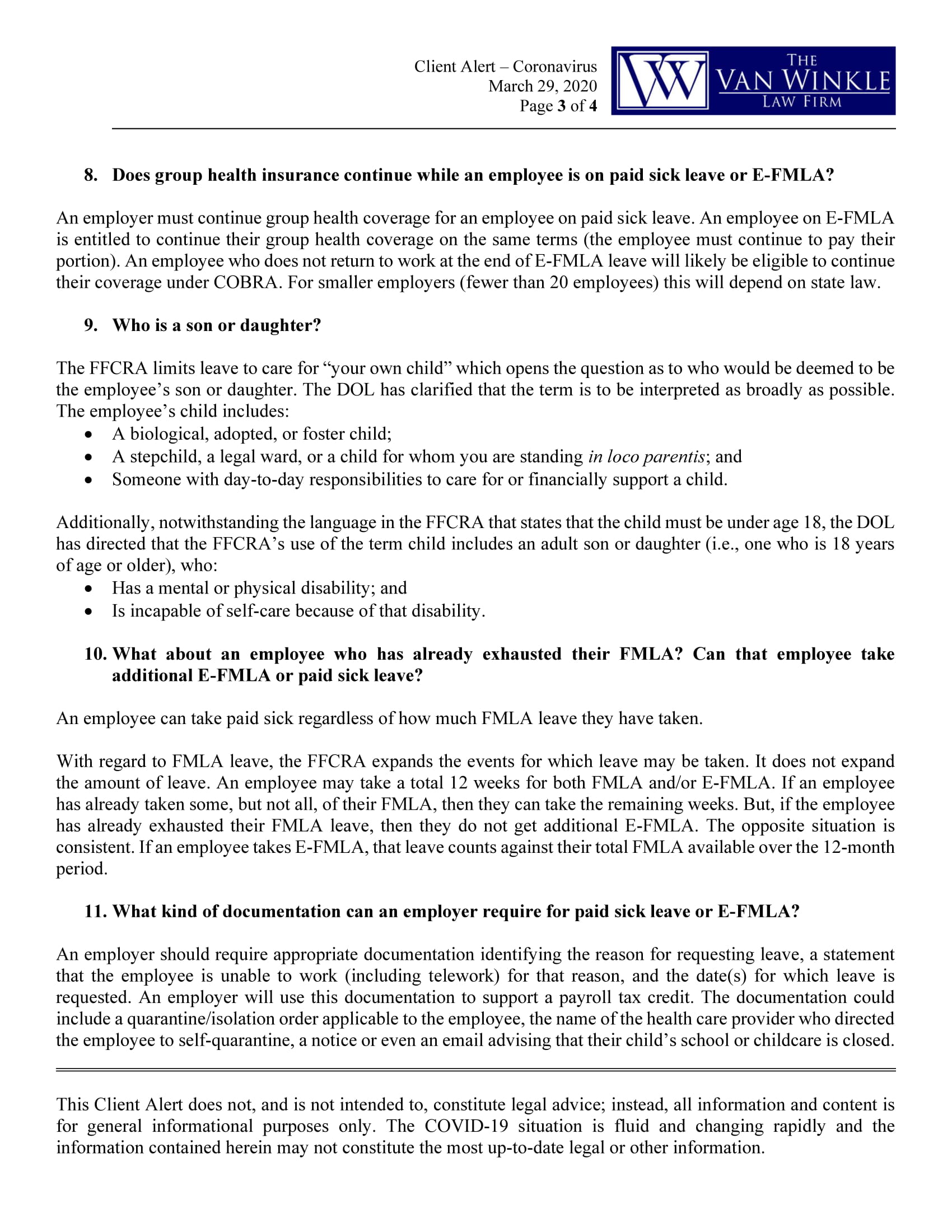 Additional DOL Clarifications Page 3