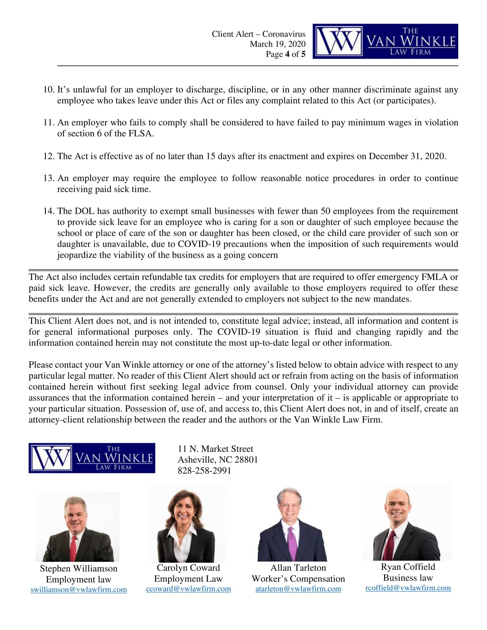 Families First Coronavirus Response Act Page 4