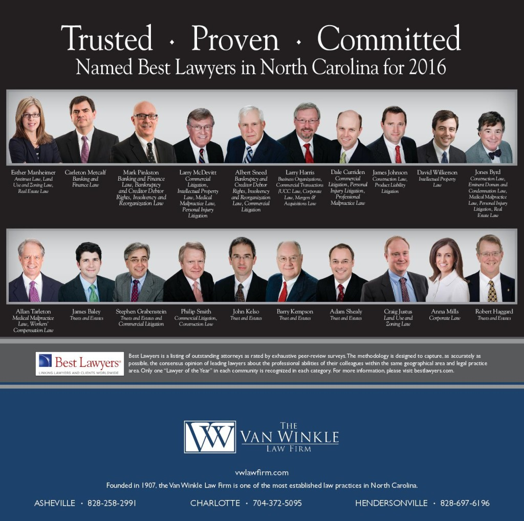Twenty Van Winkle Attorneys Recognized as 2016