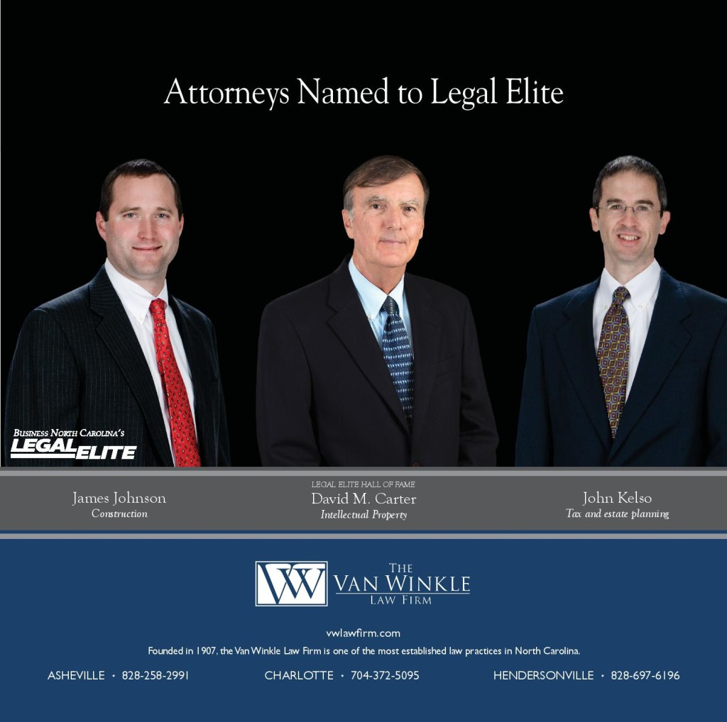 "Van Winkle Attorneys Named 2016 North Carolina ""Legal Elite"""