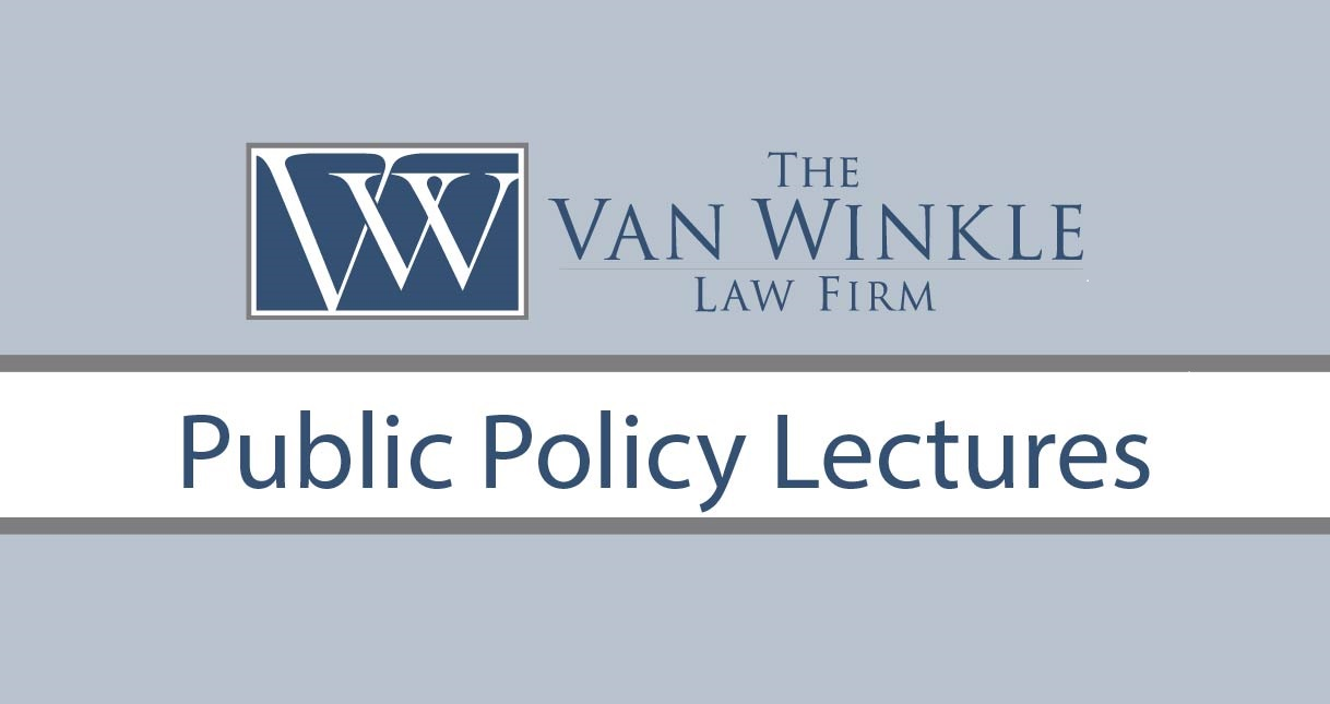 The Van Winkle Law Firm Launches Public Policy Lectures October 12 by David Brooks